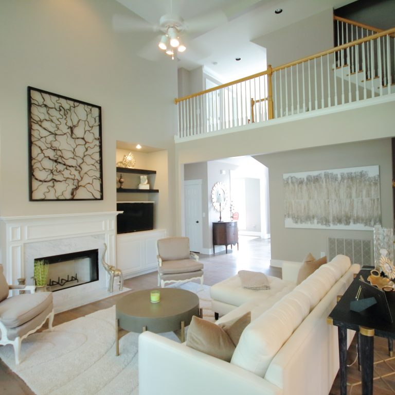 remodeled cream and white colored living room